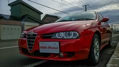 A Beauty (snakecats) Tags: red car hokkaido  alfa vehicle alfaromeo  alfa156    156ti