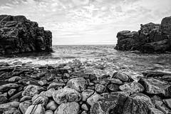 Hovs hallar (agnetaberlin) Tags: blackandwhite water rock landscape skne rocks sweden outdoor sony sverige hav landskap hovshallar stenar klippor