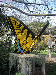 giant butterfly (Bolt of Blue) Tags: butterfly lego palosverdes southcoastbotanicgarden seankenney natureconnects