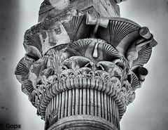 Philae Temple, intricate carvings (gambat) Tags: monochrome temple roman religion egypt nile horus column philae aswan isis egyptology pharaohs egyptiangods egyptianarchitecture