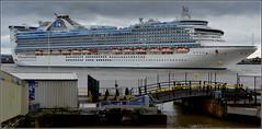 Caribbean Princess ( Departing Liverpool) 1st May 2016 (Cassini2008) Tags: portofliverpool caribbeanprincesscruiseship