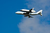 Ferry Flight (Stacey Conrad) Tags: nyc newyorkcity nikon shuttle hudsonriver enterprise spaceshuttle flyover pier84 d7000 sca747