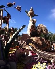 054 Working Together (saschmitz_earthlink_net) Tags: california snail lizard ladybug raccoon pasadena roseparade float rotaryinternational 2016 tournamentofroses workingtogetherforpeace