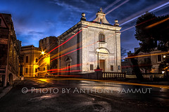 The chapel of St Paul's shipwreck (Tony Sammut) Tags: longexposure canon wow lights flickr colours tripod trails chapel malta lighttrails bluehour sincity blueskys lightroom autofocus naxxar bulbmode finegold frameit beautifulcapture canoniani simplysuperb travelplanet canoneos550d blinkagain efs1855mmf3556isii flickrclickx stpaul'sshipwreck