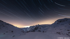 gran san bernardo (TIMPICE) Tags: mountain snow night dark landscape star nikon valle tokina neve 24 12 rosso montagna notte paesaggio 1224 buio stelle startrail d90 daosta gransanbernardo