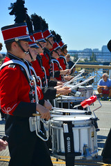 OCHS Drumline (swong95765) Tags: drums march profile parade line highschool snare drumline