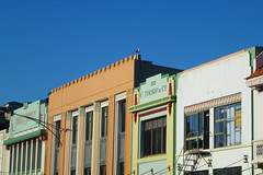 Art Deco Buildings In A Row (gec21) Tags: newzealand architecture panasonic nz artdeco napier hawkesbay 2015 dmctz20