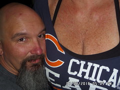 5 O'clock Somewhere (cjacobs53) Tags: chicago goatee fan breast bears chest bald cj sherry jacobs cleavage boob somewhere clarence sher chicagobears freckle 5oclock 5oclocksomewhere jacobsusa