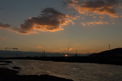 7Yodo River at sunset (anglo10) Tags: sunset japan river