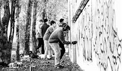 Graffiti Artist (Joe M. Photography) Tags: street city people urban blackandwhite white black graffiti blackwhite stuttgart strasse human 0711 streephotography stuggi strassenfotografie strasenfotografie