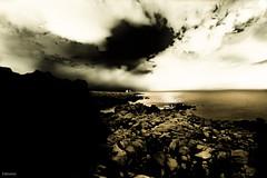Negative Drama (Karlo Marinovi) Tags: new sea summer sky people sun abstract art beautiful silhouette clouds landscape crazy nice nikon angle gorgeous fine wide surreal croatia tokina negative rays drama vir