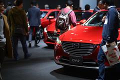 Mazda (23fumi) Tags: red car nikon 85mm autoshow vehicle fukuoka mazda 車 motorshow 福岡 d600 ニコン afs85mmf18g 福岡モーターショー