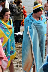 RECOVERY (MIKECNY) Tags: cold beach hat fun crazy lakegeorge polarplunge towell stayingwarm