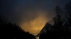 the Night Crossing (lunaryuna) Tags: road nightphotography trees winter mountains norway night season mood nighttime lunaryuna nocturnalphotography northernnorway lyngseidet tromsfylke arcticregion lightmood seasonalwonders