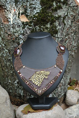 But Starks remain_3 (~Gilven~) Tags: winter brown man metal gold necklace beads wolf embroidery jewelry medieval armor bead stark beading gem chainmail garnet goldthread starks beadembroidery gameofthrones czechbeads foggyforest naturalleather jewelryfindingsbyannachernykh