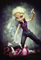 Oh, what, are you a VEGETARIAN?! (EliMalone) Tags: fashion monster rebel high doll dolls princess cosplay spirit vampire dracula pack killer blonde knight josswhedon buffy slayer charming darling mattel basic vamp ghoul stake ghouls rebellious operetta killerstyle draculaura clawdwolf everafterhigh