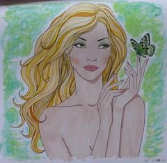Ambiance bohème (Au fil de l'eau) (delphinecingal) Tags: coloring coloriage aufildeleau pastelsgras promarkers ambiancebohème