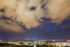 5D3_7866 (Dallas Maher) Tags: city sky color colour nature night clouds canon lights twilight scenery mt mark iii hills mount kangaroo 5d canberra lightning ainslie