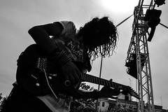 #19 (Vittorio.DellErba) Tags: light sky bw sun white black backlight person concert nikon shadows play guitar outdoor stage guitarist