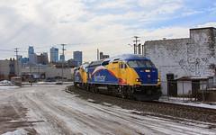 MNRX 501 at Harrison St. - Minneapolis, MN (bkays1381) Tags: minnesota minneapolis northstar metrotransit northstarcommuterrail mnrx501