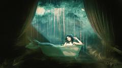 La vida es un espectáculo. (PetterZenrod) Tags: art stage escenario fantasy sirena bañera espectáculo fantasía
