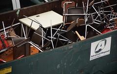 Advanced (marensr) Tags: street chairs milwaukee discarded desks