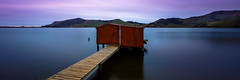 Hoopers Inlet Boatshed (grantg59@xtra.co.nz) Tags: longexposure blue sunset red bird birds clouds coast boat soft shed hills dunedin inlet portobello hoopers otagopeninsula birdlife bigstopper