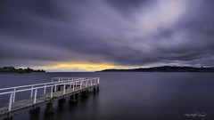 Lake Taupo, New Zealand, North Island (Aaron Bishop Photography) Tags: longexposure sunset newzealand landscape nikon jetty taupo aotearoa laketaupo 10stop newzealandnorth leebigstopper aaronbishopphotography