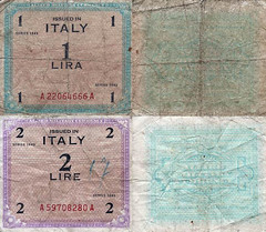 1943 Trieste Allied Military Currency (Urbanwear) Tags: vintage typography photography foto ephemera printing font lettering fonts trieste tipografia typeface trademarks marchi letterheads vintagetypography printingindustry commercialdocuments