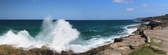 Coast panorama (LSydney) Tags: ocean sea panorama coast wave spray splash freshwater curlcurl