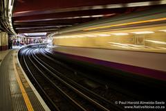 The Metropolitan Line Speeds Through Baker Street Underground Station, London
