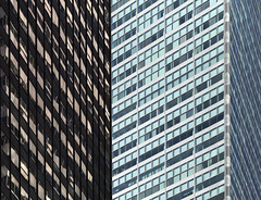 Green and Black in Manhattan (josullivan.59) Tags: city nyc light shadow wallpaper urban panorama usa newyork abstract black detail reflection green texture geometric architecture dark day pattern unitedstates january clear midtown minimalism lightanddark artisitic 2016 3exp canon6d tamron150600