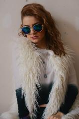 New Americana. (kelleysloot) Tags: portrait selfportrait sunglasses vertical self fur nikon nikond7000