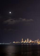 Moon Over Mumbai -Marine Drive (Abhinav Singhai) Tags: moon india nikon nikkor indiatravel indiatourism incredibleindia nikon70300mmvr nikond700 ilovewalkman indiatourist