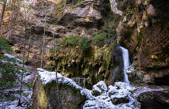 Hinanger Wasserfall (Ronny Gäbler) Tags: schnee trees winter snow tree nature water landscape waterfall rocks wasser wasserfall natur bäume moos felsen