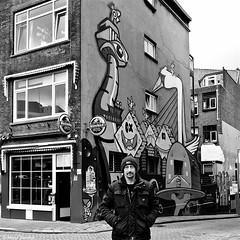 Herman, Lastplak, KBTR & Heineken (Akbar Simonse) Tags: street people bw streetart man holland blancoynegro netherlands monochrome square heineken graffiti rotterdam zwartwit nederland streetphotography bn herman lastplak vierkant rotjeknor straatfotografie roffa kbtr akbarsimonse dscn0837