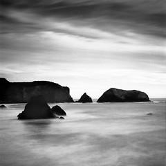 Rodeo beach (-Alberto_) Tags: california longexposure seascape monochrome mediumformat 120film ndfilter hasselblad500cm kodak100tmax