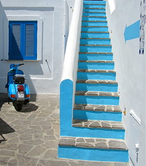 Aeolian Islands blues. 7 (vittorio vida) Tags: street travel blue sea italy stairs islands europe mediterranean blues vulcano salina eolie stromboli lipari aeolian panarea filicudi alicudi