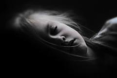 Slumber (stuartmayo62) Tags: blackandwhite bw girl monochrome female contrast child sleep slumber young shoulders asleep headandshoulders