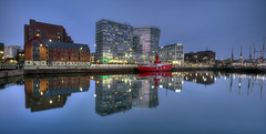 Liverpool Heritage: Albert Docks (davebyford01) Tags: uk england reflection heritage water liverpool docks boats dusk merseyside davebyfordphotographycouk