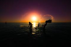 sea hair flip at sunset - Tel-Aviv beach (Lior. L) Tags: sunset sea beach action silhouettes flare hairflip