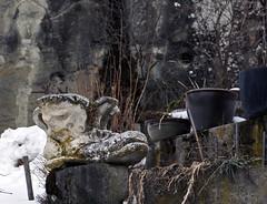 16 0004 - Savoie, valle du Bouchet, Lormay (jeanpierreossorio) Tags: sculpture neige savoie grandbornand chaussure