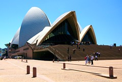 Time Space and Architecture (Heaven`s Gate (John)) Tags: plaza blue sky white house building art glass sunshine architecture modern outdoors book opera contemporary steps sydney sails australia pedestrian icon architect tiles jornutzon sydneyoperahouse sigfried johndalkin heavensgatejohn giedion