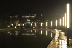 Parco della musica (Matias MasMentiras) Tags: sardegna rain fog night lights luci nebbia pioggia notturna cagliari manfrotto laghetto stagno notto umidit
