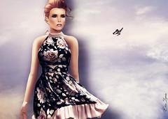 Blowing in the wind (Eria Ziemia) Tags: windy secondlife summerdress poses flowerdress windyhair femaleavatar virtualfashion eriaziemia hairology