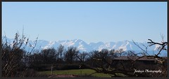 farbojo Les Pyrnes France (farbojo Photography) Tags: panorama france montagne ciel arbres neige nuages extrieur arbre vue grange batiment pyrnes rgion midipyrnes