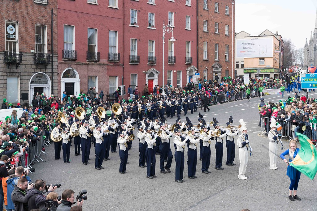 Cathedral High School 'Pride of the Irish' Marching Band [St. Patrick's Day Parade 2016]-112654