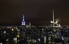 Empire State Building from Rockefeller Center, New York, March 2016 (Rochdale 235) Tags: nyc usa newyork building skyline night america state manhattan center empire empirestatebuilding rockefeller