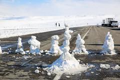 Snowmen Block Road (wyojones) Tags: winter snow storm boys fun snowman snowmen wyoming np winterstorm lander redcanyon southpass wyojones snowmenbuilders snowmanfanily southpasshighway wyoming28