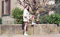 (Erica Pozza) Tags: city portrait urban woman film fashion 35mm model pop stylist pellicola popgirl
